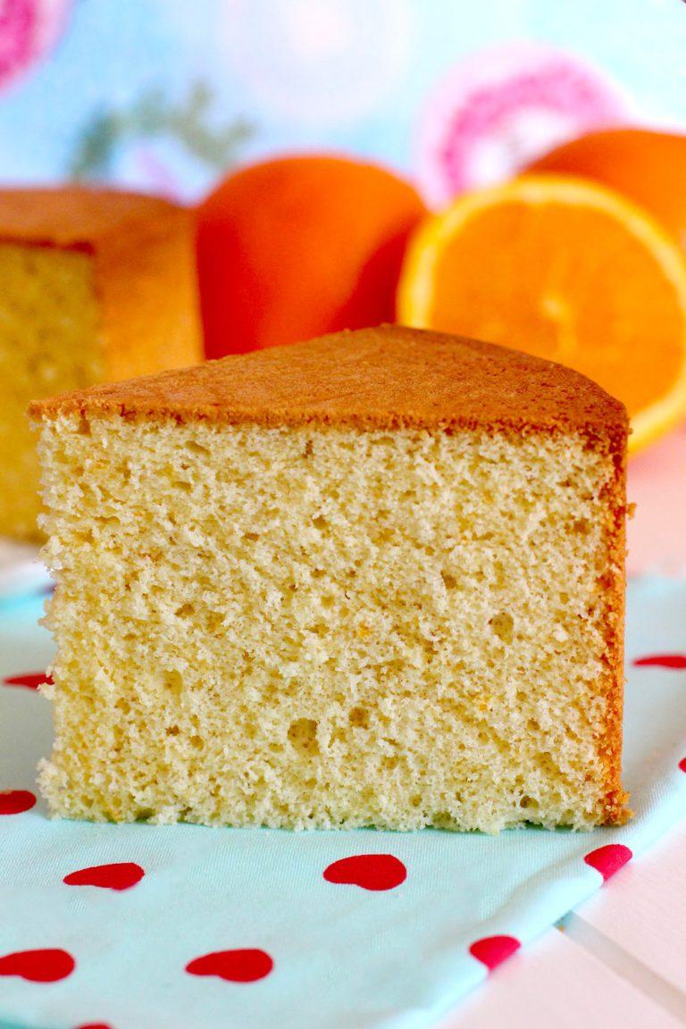 Foto de la receta sobre Como hacer bizcocho de naranja casero - Receta de bizcocho esponjoso