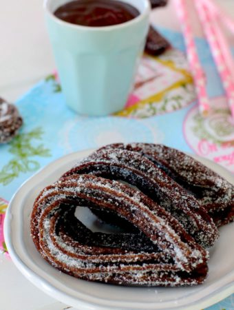 Churros de chocolate caseros