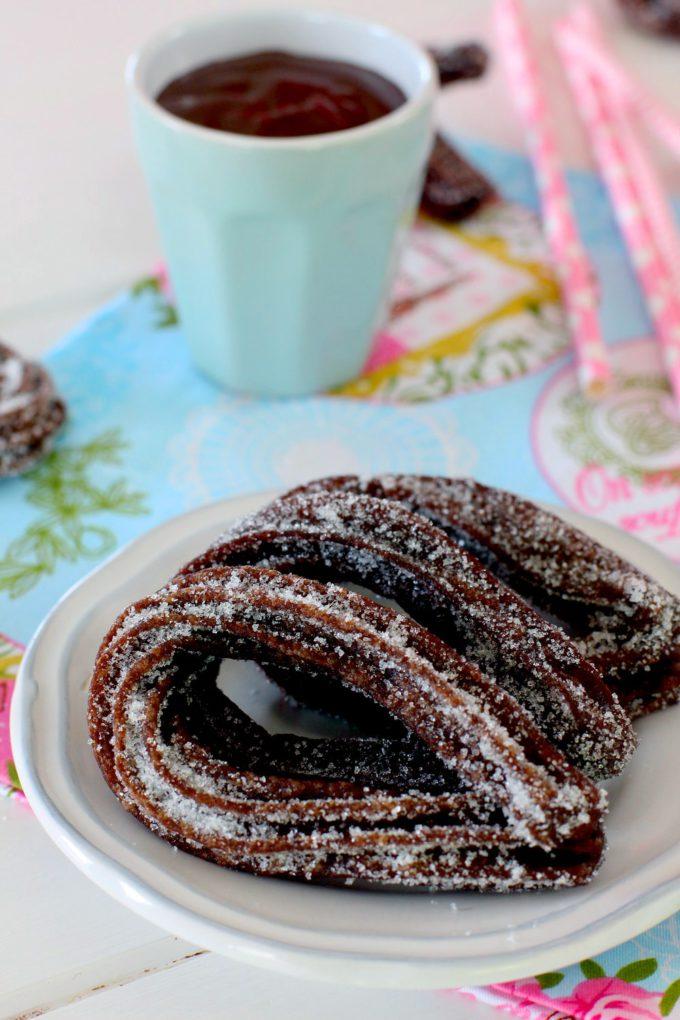 Foto de la receta Receta de churros de chocolate caseros