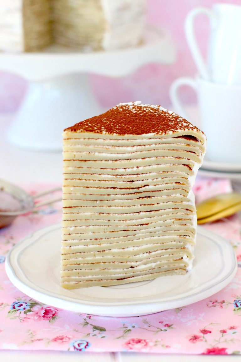 Tarta Mille crepe de tiramisú - Tarta de tiramisú