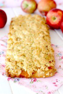 Foto de la Receta de tarta de manzana streusel