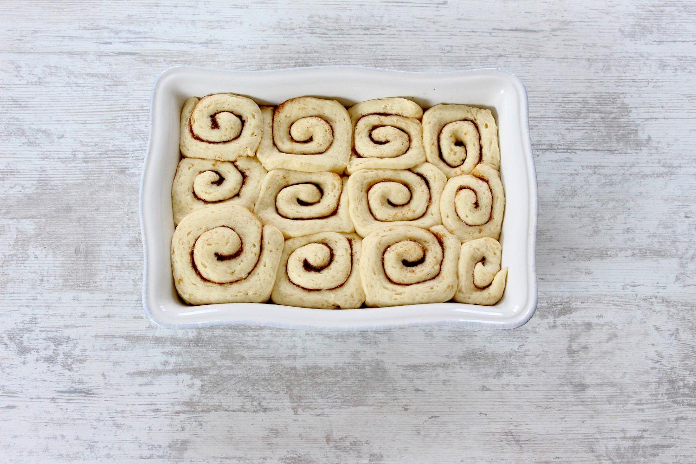 Pasos cinnamon rolls - Como hacer cinnamon rolls - Receta de rosca de canela