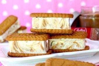 Receta de sándwich helado de galletas Lotus