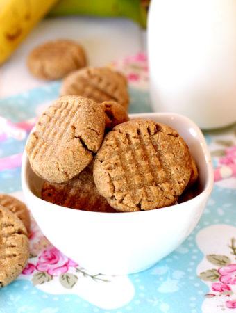 Galletas saludables de plátano y cacahuete elaboradas por Lolita la pastelera