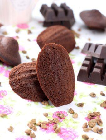 Foto de la receta de madeleines de chocolate saludables