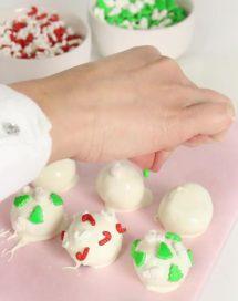 Receta de trufas de galletas Lotus para Navidad