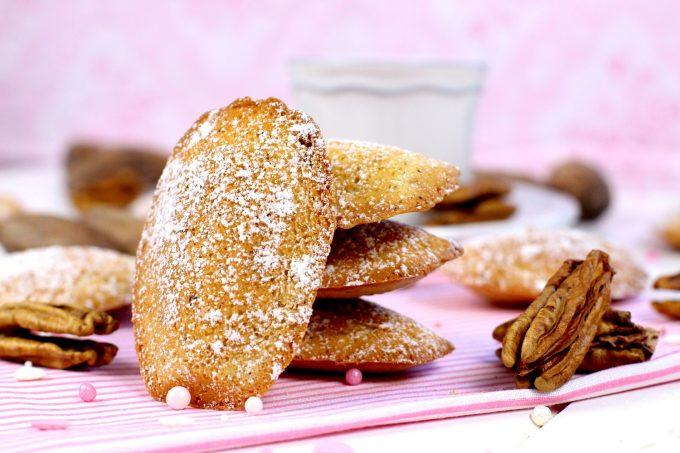 Como hacer madeleines de nueces pecanas elaboradas por Lolita la pastelera