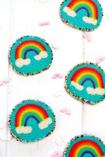 Cómo hacer galletas de mantequilla arcoíris elaboradas por Lolita la pastelera