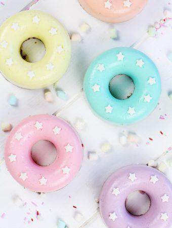 Foto de donuts cheesecake con nubes elaborados por Lolita la pastelera