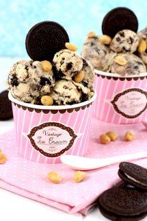 Cómo hacer helado de Oreo y mantequilla de cacahuete