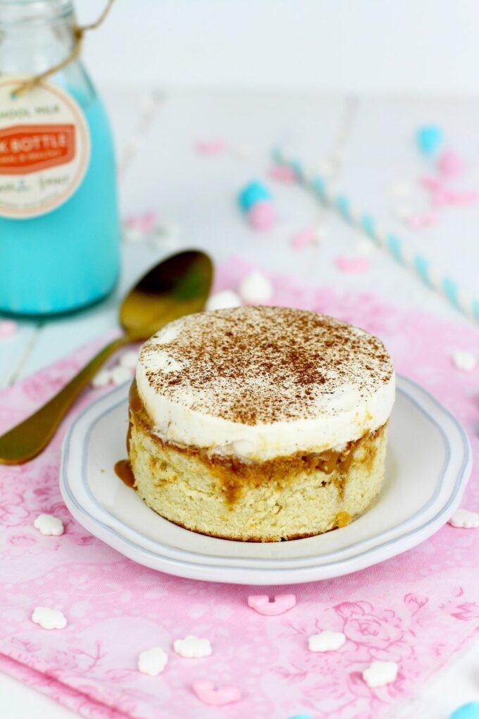 Pastel de 3 leches con dulce de leche - Bizcocho de tres leches y dulce de leche