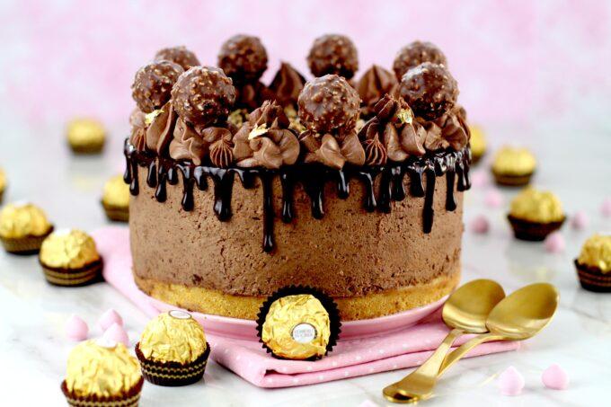 Cómo hacer Ferrero Rocher cheesecake sin horno