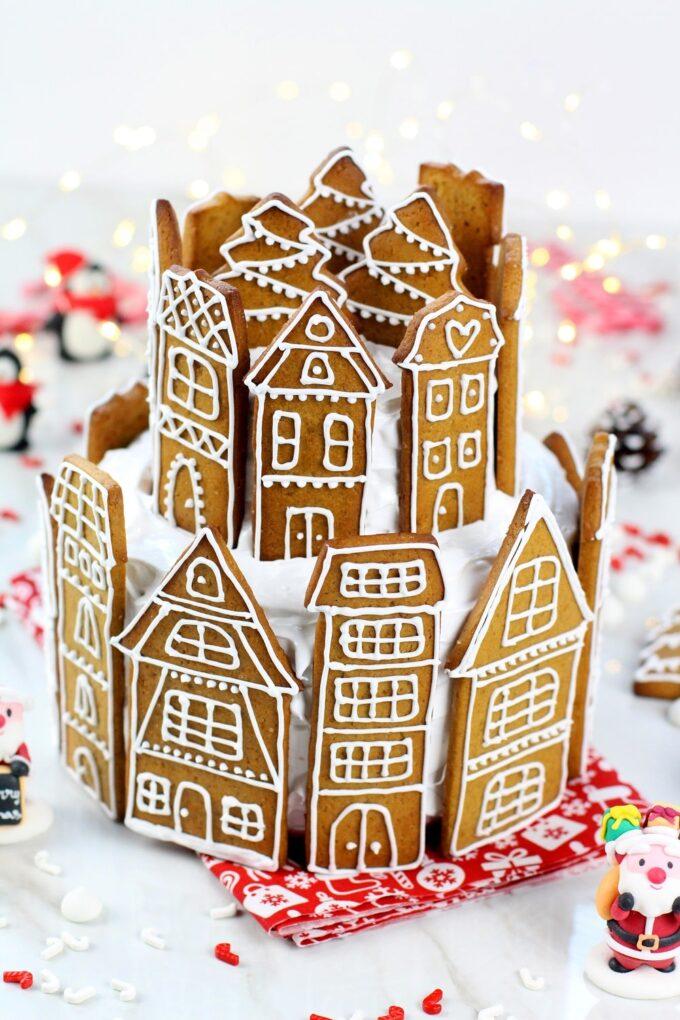 Como hacer tarta de galletas de jengibre para Navidad