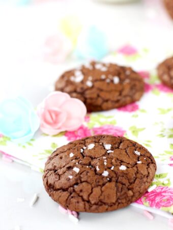 Cómo hacer galletas de chocolate brownie con sal de vainilla elaboradas por Lolita la pastelera