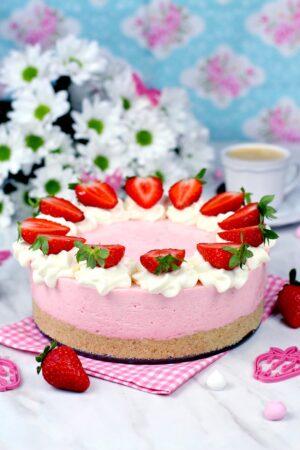Cómo hacer cheesecake de fresas sin horno