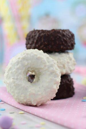 Cómo hacer donuts helados de chocolate saludables