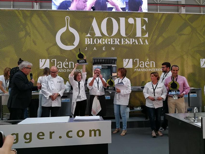 Foto de los ganadores del premio aove blogger 2017