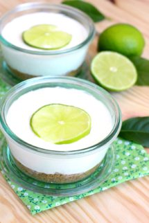 Foto de la receta de cheesecakes de lima