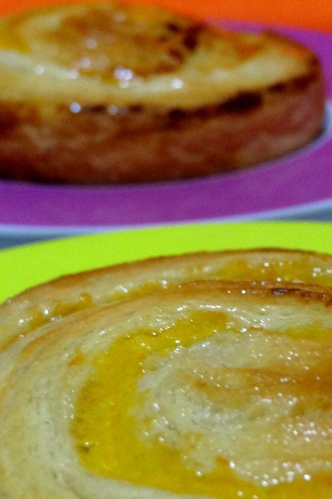 Foto de la receta de caracolas de crema pastelera