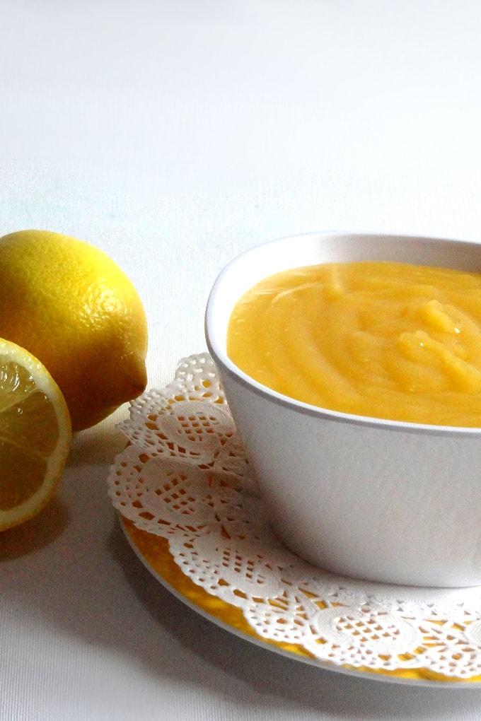 Foto de la receta de crema de limón casera