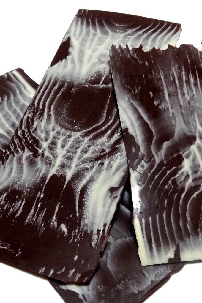 Foto de la receta de láminas de chocolate