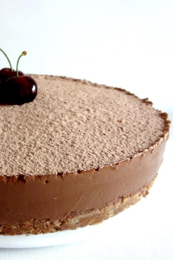 Foto de la receta de cheesecake de chocolate
