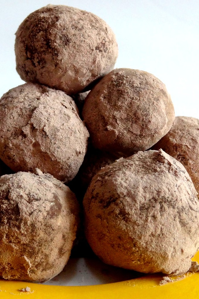Foto de la receta de trufas de chocolate caseras