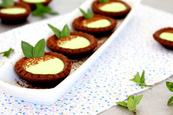 Foto de la receta de tartaletas de chocolate y menta