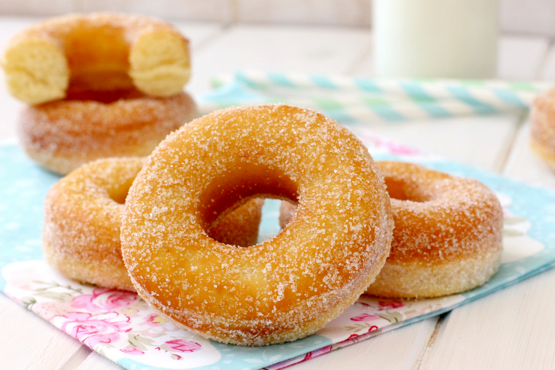 Donas Caseras Con Azúcar O Donuts Clásicos Recetas Fáciles Y Caseras