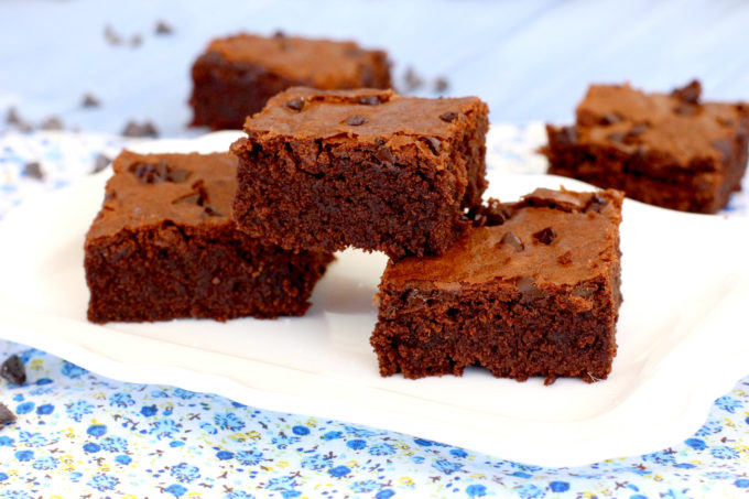 Foto de la receta de brownie de chocolate