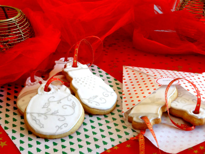 Foto de la receta de galletas navideñas de almendra y mantequilla