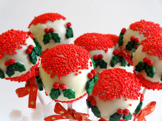 Foto de la receta de cake pops para Navidad de turrón