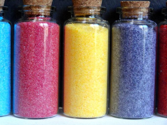 Foto de como hacer azúcar de colores