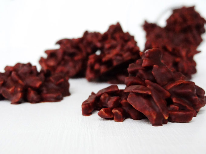 Foto de como hacer rocas de chocolate