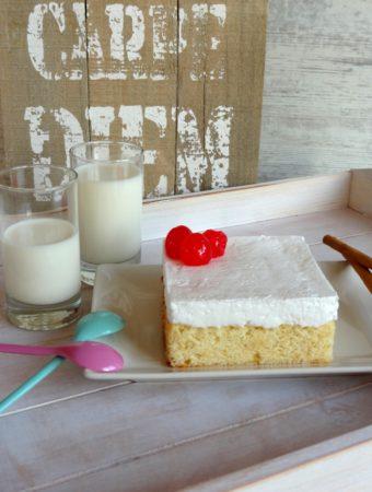 Foto de la receta de pastel de 3 leches