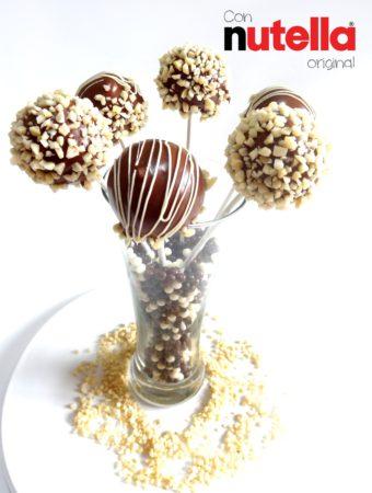 Foto de la receta de cake pops de Nutella
