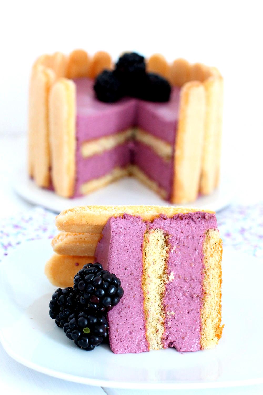 Foto de la receta de tarta Charlotte de moras