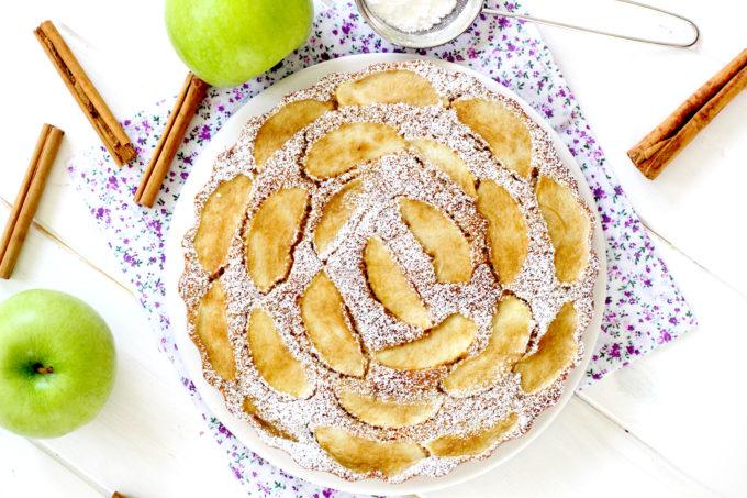 Foto de la receta de bizcocho de manzana y canela