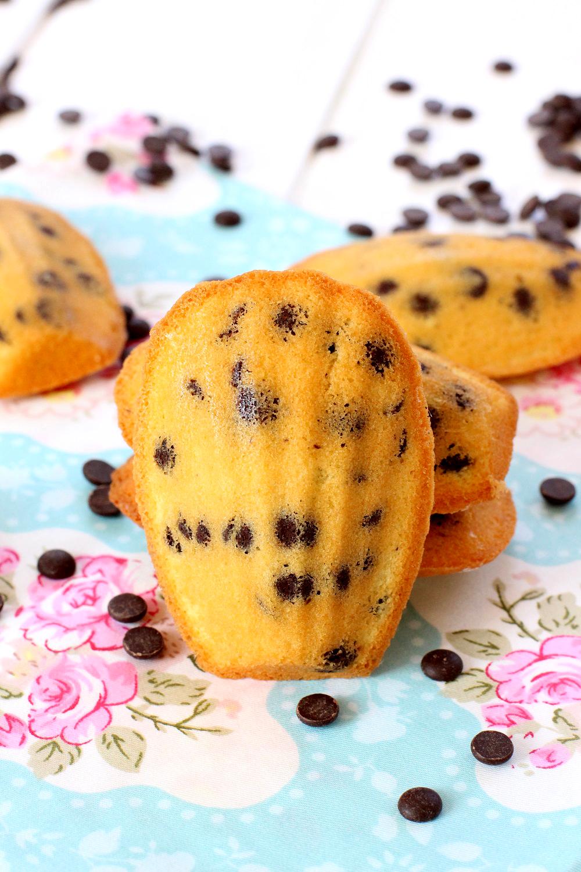 Foto de la receta de madeleines con chips de chocolate