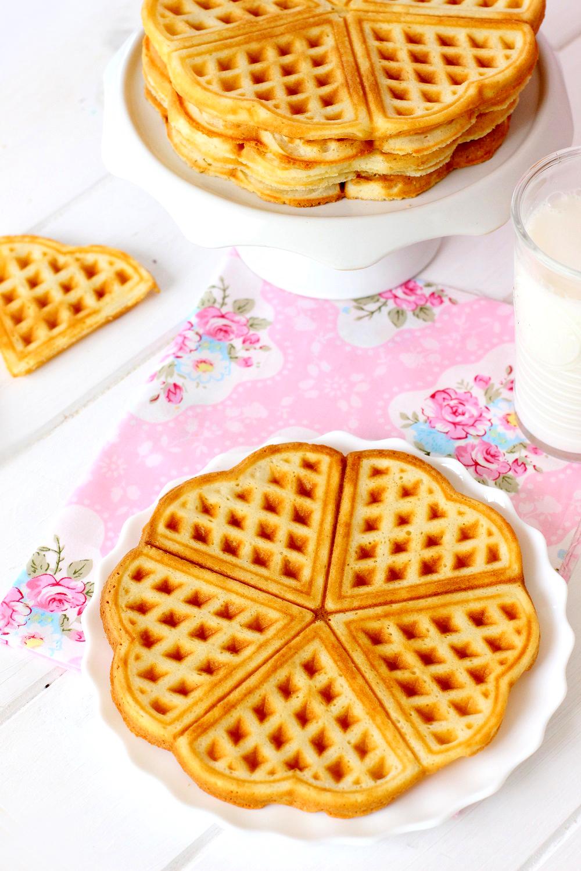 Fotos de la receta de gofres belgas