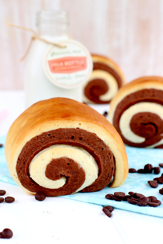 Foto de la receta de pan de leche con chocolate