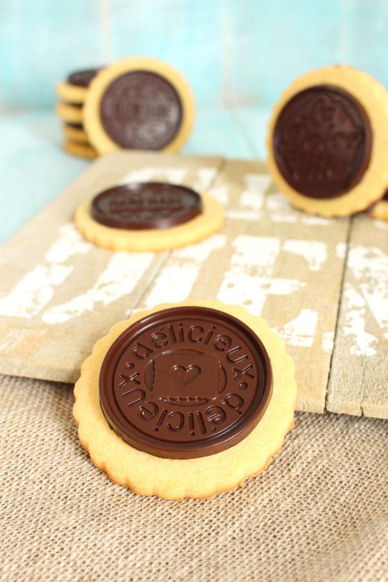 Foto de la receta de galletas de mantequilla con vainilla y chocolate