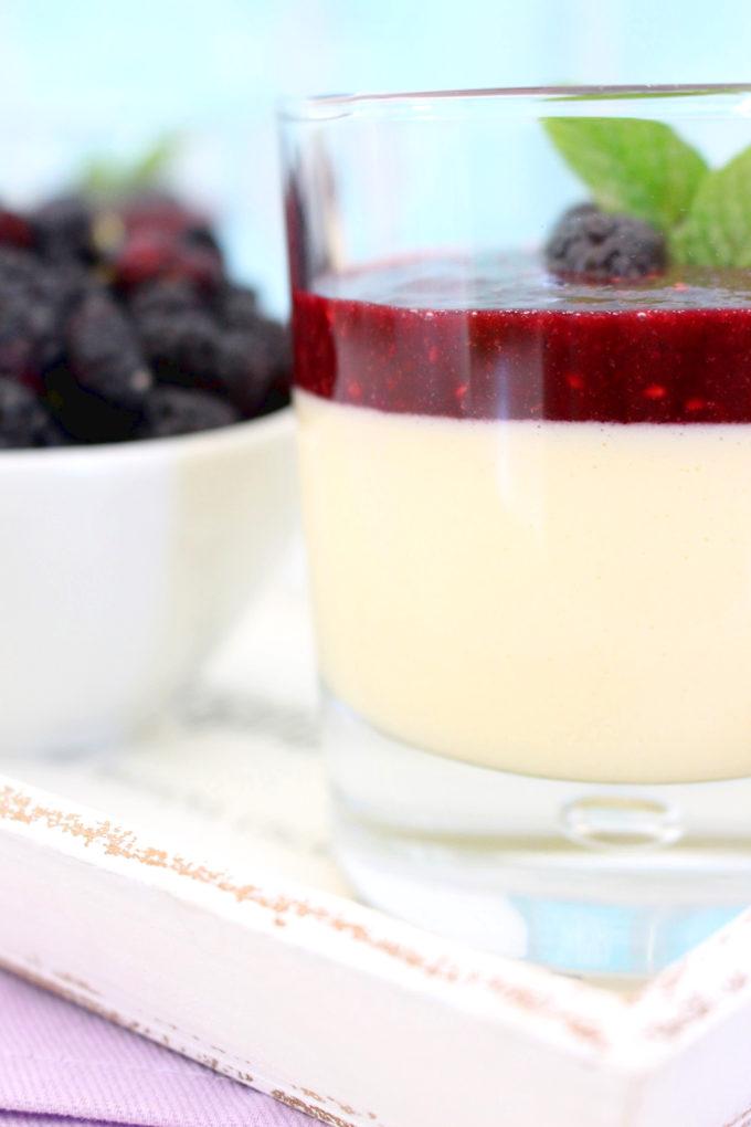 Foto de la receta de crème brûlée con moras
