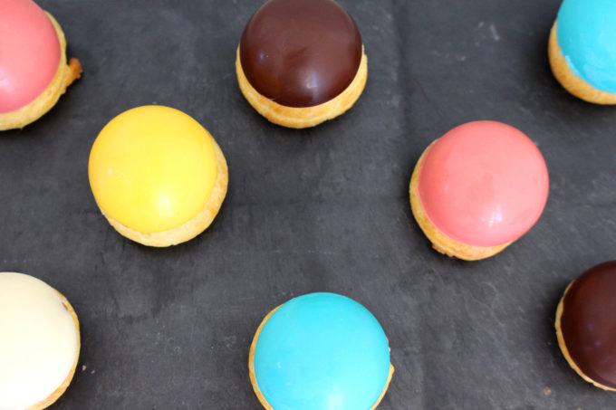Foto de la receta de profiteroles de colores