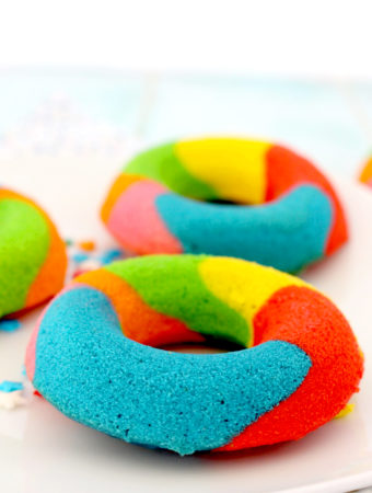 Foto de la receta de donuts de colores