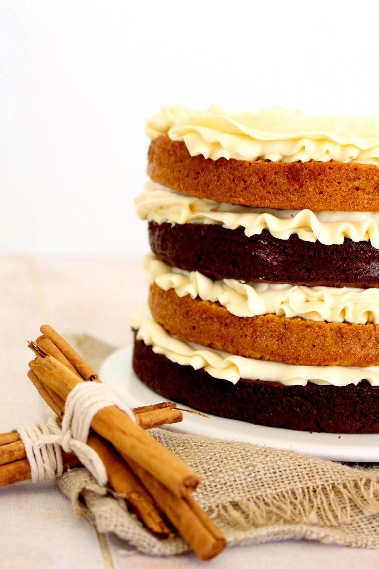 Foto de la receta de layercake de chocolate y calabaza