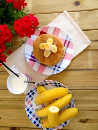 Pancakes americanos de plátan...