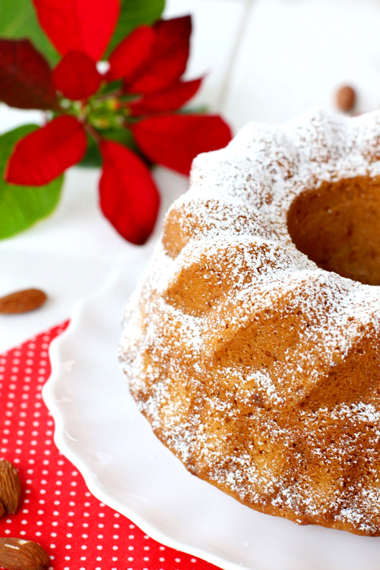 Foto de la receta de bund cake de turrón blando (Jijona)