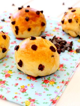 Foto de la receta de pan dulce con chips de chocolate