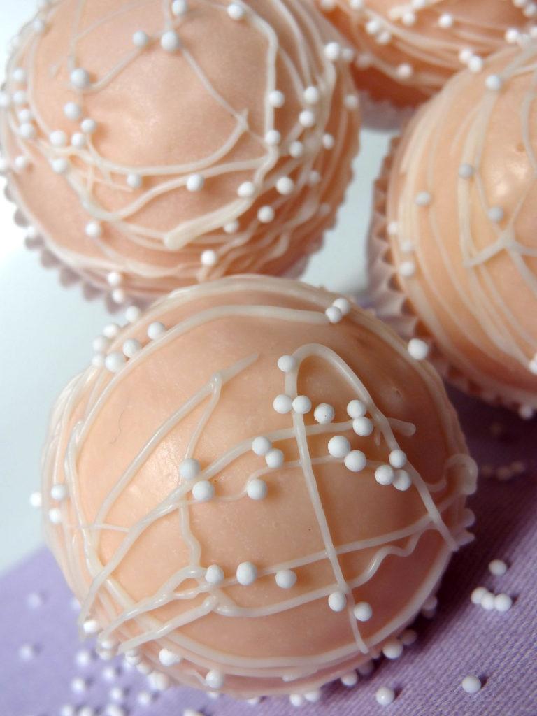 Foto de la receta de cake pops de chocolate blanco